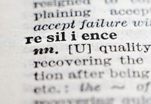 Resilienz im Wörterbuch symbolisch für Motivation behalten bei Jobsuche