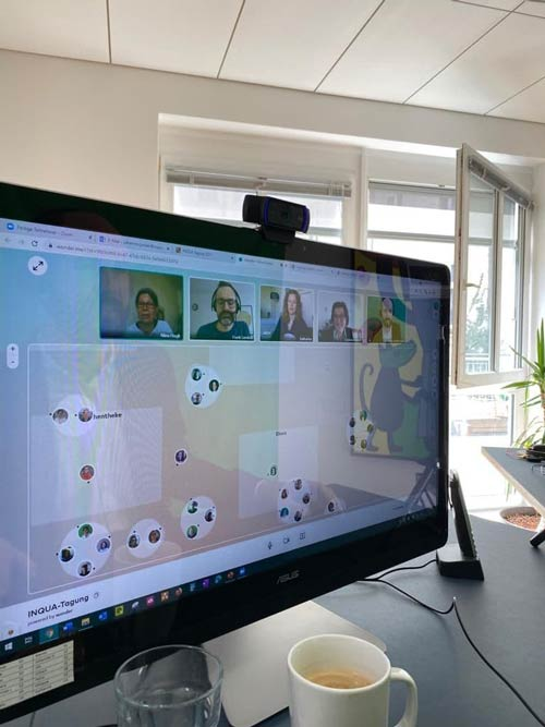 In den Konferenzpausen ist im virtuellen Café Wonder.me Gelegenheit für den persönlichen Austausch