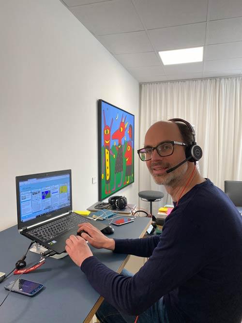 Unser technischer Redakteur Philippe Fontaine sorgt im Hintergrund für den reibungslosen Ablauf